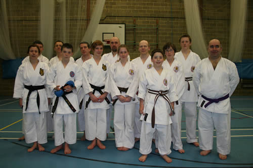Knebworth Karate Club at the Wayne Otto Kumite Training