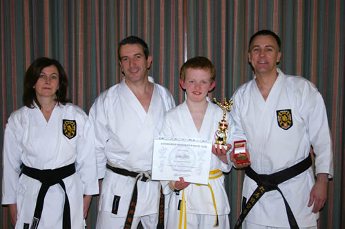 Luke, his instructors and his award